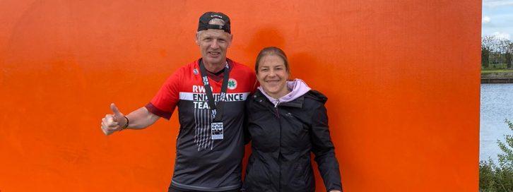 Christian Fastner und Aline Piercina im Ziel